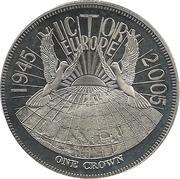 1 Crown - Elizabeth II (VE Day) – reverse