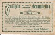 10 Heller (Gramastetten) -  reverse