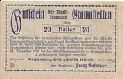 20 Heller (Gramastetten) -  reverse