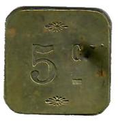 5 Centimes - Fourneau Economique Saint Vincent de Paul (Grasse) – reverse