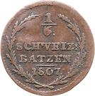 ⅙ Batzen – reverse