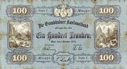 100 Francs (Graubündner Kantonalbak) – obverse
