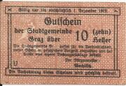 10 Heller (Graz) – obverse