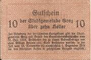 10 Heller (Graz) – reverse
