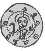 Denar - Bolesław Pobożny (Poznań mint) – reverse