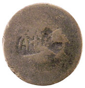 5 Para (Countermarked of A+T on Turkey KM-666.3, AH1255) – obverse