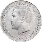 10 Drachmai - Constantine II -  obverse