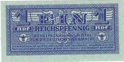 1 Reichspfennig – obverse