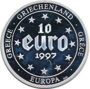 10 Euro (500 Drachmes) – obverse