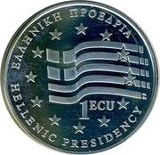 1 ECU (Hellenic Presidensy) – obverse