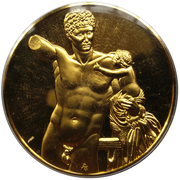 Medal - Art treasures of Ancient Greece (Hermes and the Infant Dionysos) – obverse