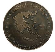 Hellenic Heritage Collectors Coin - Crete (Knossos - Dolphin Fresco) – reverse