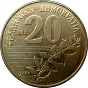 20 Drachmes -  reverse