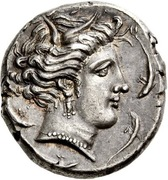 Tetradrachm (Uncertain Punic mint; Lilybaion or Entella) – obverse