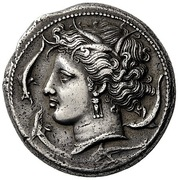 Tetradrachm (Punic military mint) – obverse