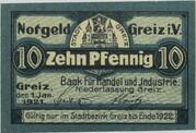 10 Pfennig (Bank für Handel und Industrie) – obverse