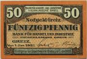 50 Pfennig (Bank für Handel und Industrie) – obverse