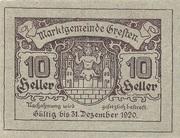 10 Heller (Gresten) -  obverse