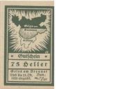 75 Heller (Gries am Brenner) – obverse