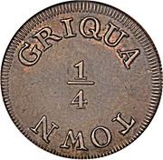 ¼ 'Penny' (Griqua Town) – reverse