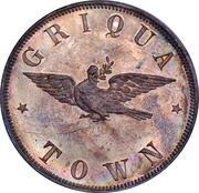 1 Penny - Victoria (Griqua Town Pattern) – reverse