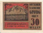 30 Heller (Grödig) – obverse