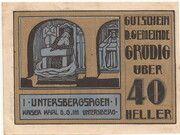 40 Heller (Grödig) – obverse