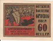 60 Heller (Grödig) – obverse