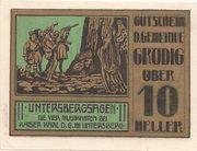 10 Heller (Grödig) – obverse