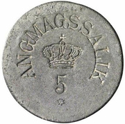 5 Øre (Royal Greenland Trade Company) – obverse