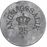 25 Øre (Royal Greenland Trade Company) – obverse