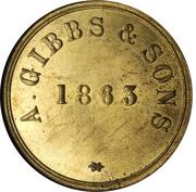 1 Daler (A. Gibbs & Sons) – reverse
