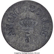 5 Øre (Royal Greenland Trade Company) – obverse
