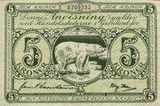 5 Kroner – obverse