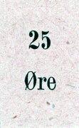 25 Øre – obverse