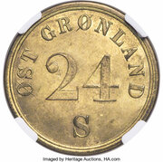24 Skilling (A. Gibbs & Sons) – obverse