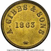 6 Skilling (A. Gibbs & Sons) – reverse