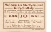 10 Heller (Gross-Pertholz) – obverse
