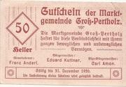 50 Heller (Gross-Pertholz) -  obverse