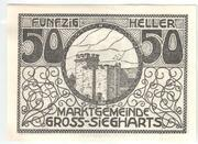 50 Heller (Gross-Siegharts) -  obverse