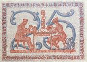 25 Pfennig (Kleinkunstindustrie Carl Günther Tresselt) – reverse