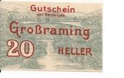 20 Heller (Grossraming) -  obverse