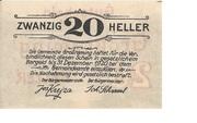20 Heller (Grossraming) -  reverse