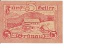 5 Heller (Grünau) -  obverse