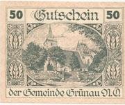 50 Heller (Grünau) -  obverse