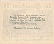 50 Heller (Grünau) -  reverse