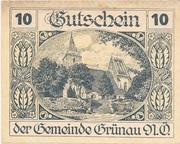 10 Heller (Grünau) -  obverse