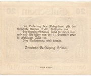 20 Heller (Grünau) -  reverse