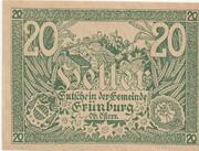 20 Heller (Grünburg) -  obverse