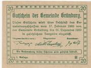20 Heller (Grünburg) -  reverse